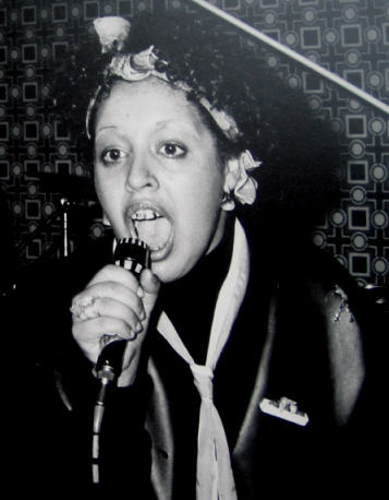 Poly Styrene belting out another futuristic anthem in the quaint Red Cow Fulham 1977