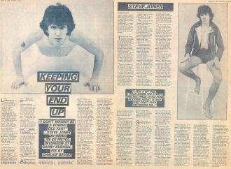 Steve Jones Sounds March 31st 1978